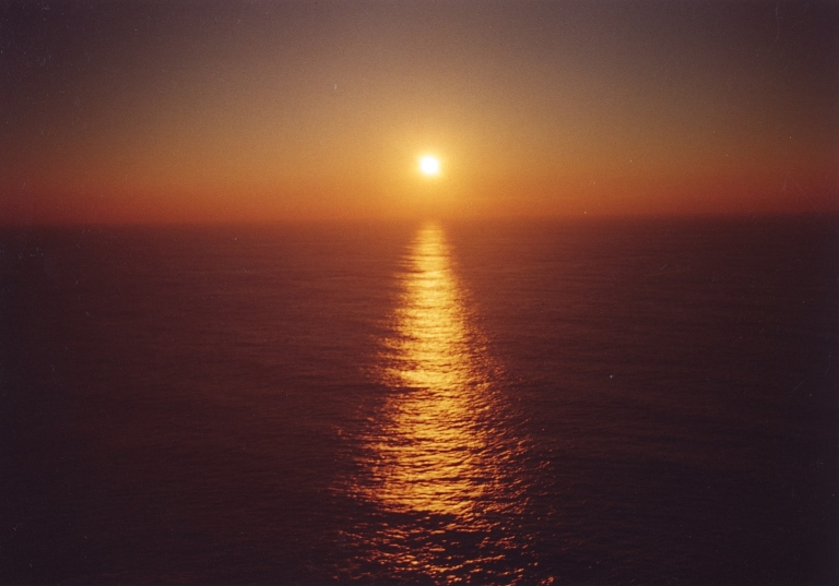 Sunset at Fisterra 1999