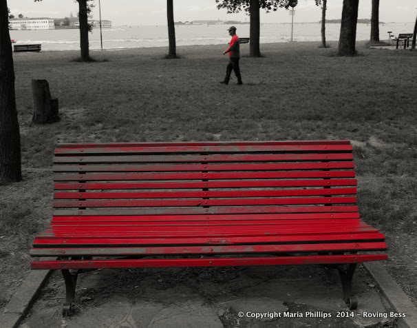 Red Bench Red Man