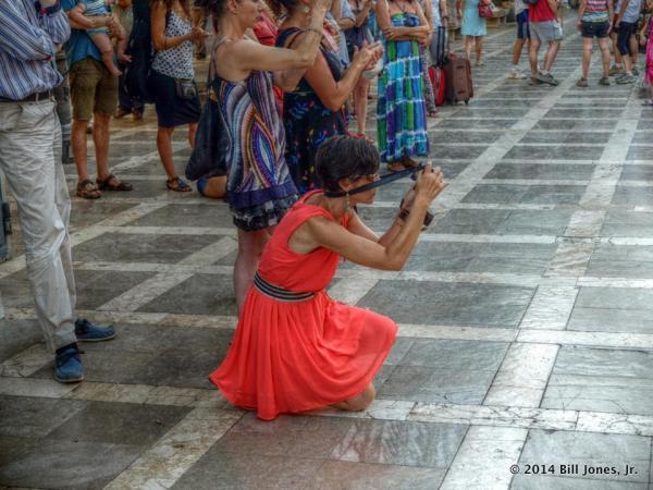 Me shooting the dancer