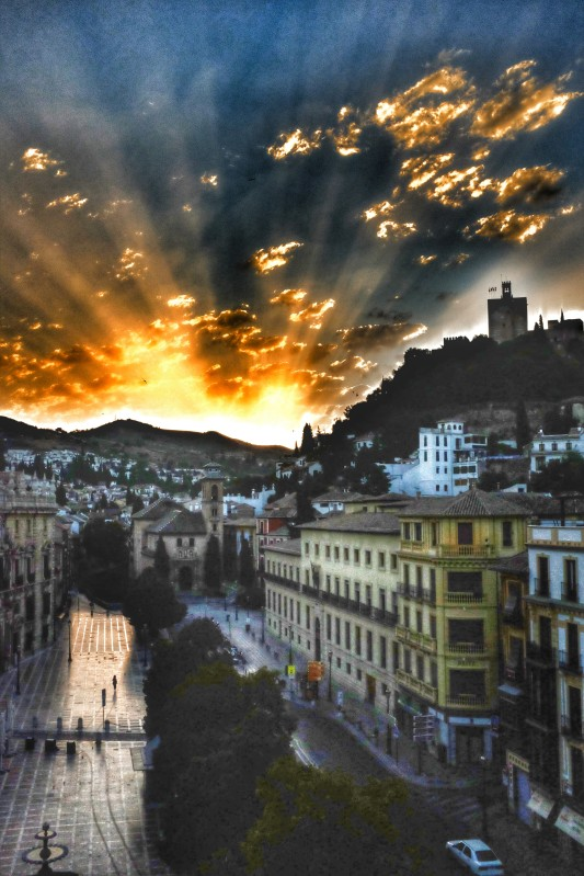 Sunrise over Granada HDR