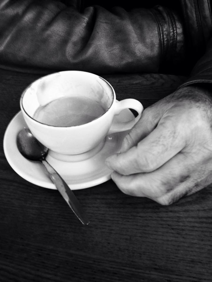 Coffee with Dad at the Regency.