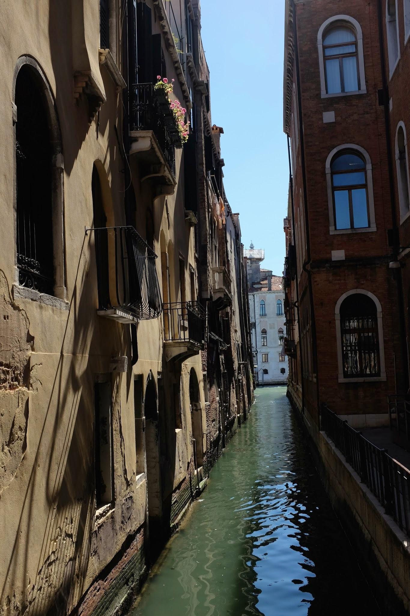 A road in Venice.